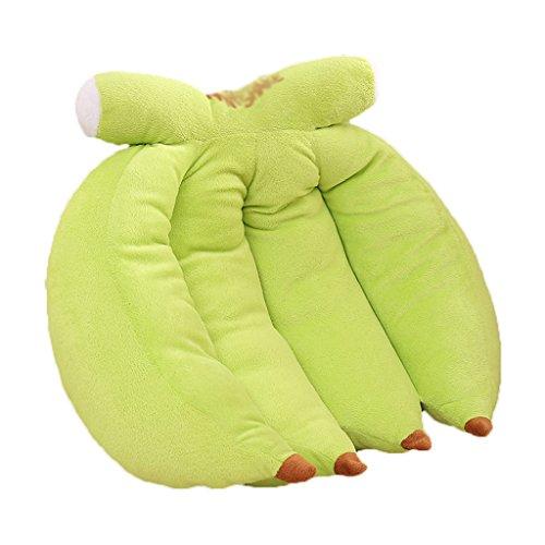 ZWL Creative Banana Fruit Cojín Sofá Coches almohada respaldo Oficina de la siesta almohada almohada almohada lumbar moda. z ( Color : Verde , Tamaño : 35*30*15CM )