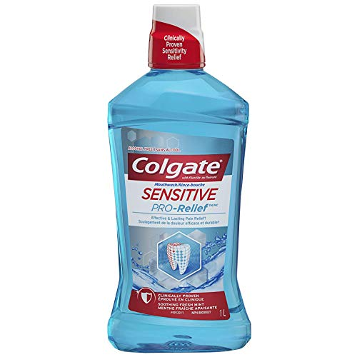Colgate Sensitive Pro Relief Mouthwash Pro Argin Alcohol Free - Effective & Lasting Pain Relief (1000ml / 33.8 fl oz)