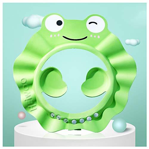 Shampooing Cap Baby Shower Cap Étanche Protecteur d'oreille Enfant Réglable Bébé Enfant Bonnet De Douche ( Color : Green )