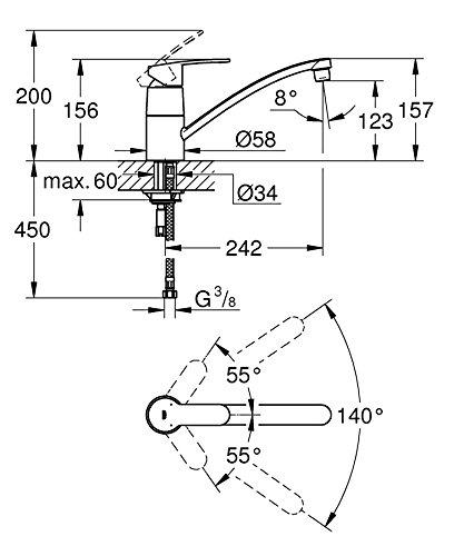 Grohe – Eurostyle Einhand-Spültischbatterie, schwenkbar, Chrom - 2