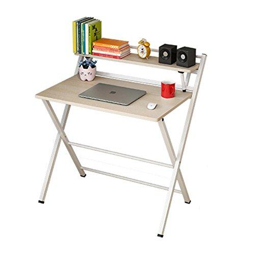 Zaixi Table Pliante de Plateau de Restaurant Bureau Multifonctionnel d'ordinateur à la Maison avec des Supports de Stockage Forte capacité portante (Couleur : Merisier)