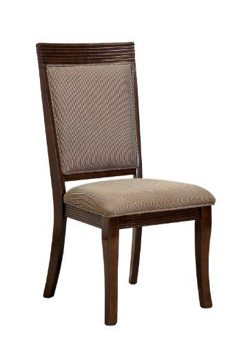 Furniture of America Aiken Dining Side Chair, Walnut