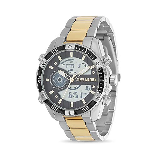 Steve Madden Analog Digital Two Tone Men's Watch (SMW215TG)
