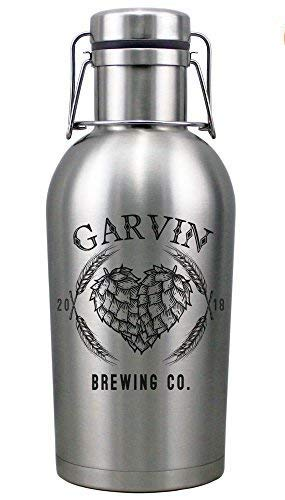 Personalized Etched 64oz Stainless Steel Vacuum Insulated Beer Growler