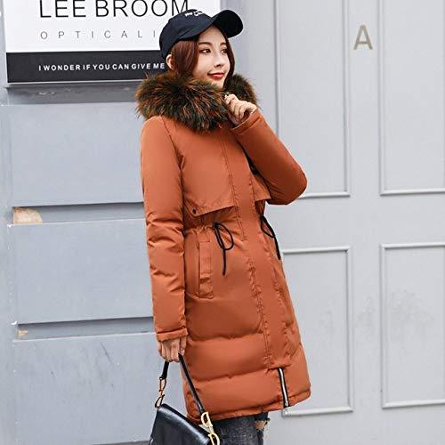 WFSDKN Dames Parka dubbelzijdige jas met capuchon winterjas vrouwen parka vrouwen lace up jas bontkraag slank bovenkleding vrouwelijk plus maat