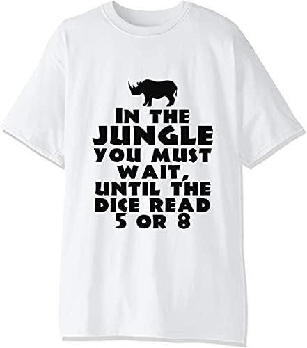 En The Jungle You Have to Wait Until Dice Rolls 5 u 8 Camiseta para hombre.