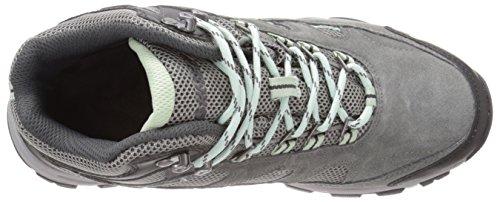 Hi-Tec Women's Wn Logan Mid Waterproof Hiking Boot, Charcoal/Cool Grey/Lichen, 9 M US
