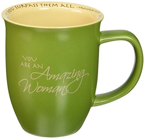 Abbey Gift Abbey Press (Abbey & CA Gift) Amazing Woman Mug & Coaster Set, 4 by 4.38', Green