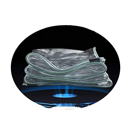 GGYMEI Lonas Impermeables Exterior, Lona Transparente Impermeable CLORURO DE POLIVINILO El Plastico Lona con Ojales para Jardín Al Aire Libre Láminas De Plástico (Color : Claro, Size : 1.8x4m)