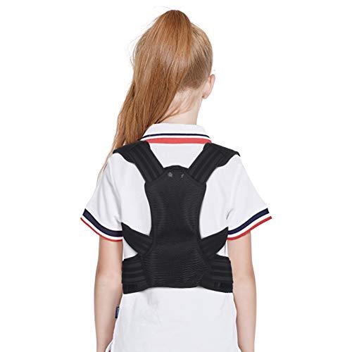 Haltungskorrektur Rücken Kinder, Körperhaltung Korrektor Kinder Haltungstrainer Rückenbandage Geradehalter Rückenstabilisator mit 2 Alu-Stützplatten für Slouch, Rückenschmerzen, Thorax-Kyphose