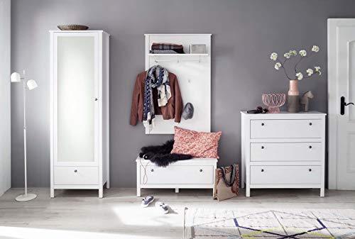 trendteam smart living  Garderobe Garderobenkombination 4-teiliges Komplett Set Ole, 274 x 192 x 38 cm in Weiß mit viel Stauraum