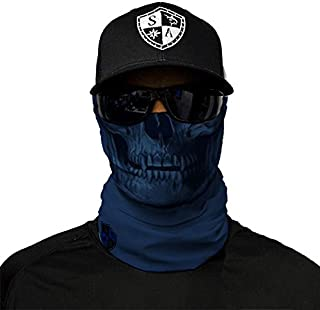 SA Company Face Shield Micro Fiber Protect From Wind, Dirt & Bugs. Worn as Balaclava, Neck Gaiter & Head Band For Hunting, Fishing, Boating, Cycling, Paintball and Salt Lover-TacticalNavySk