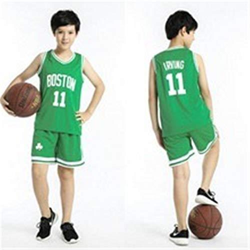 Sheki Boston Celtics # 11 Irving Jersey Traje Deportivo, Traje de Entrenamiento, Traje de Baloncesto, Traje de Entrenamiento, Traje de Baloncesto, (Verde, L)