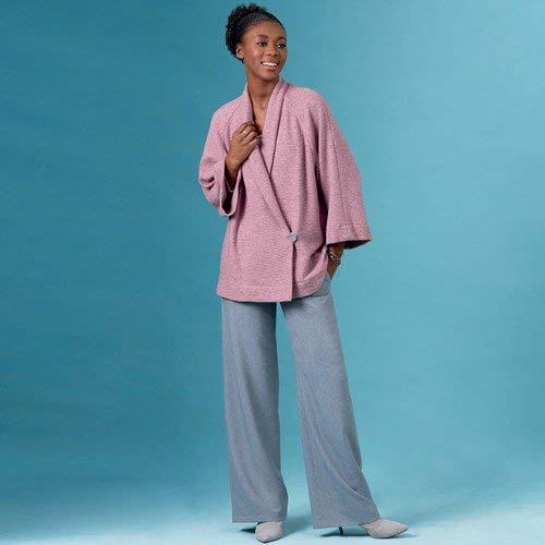 Simplicity S8993 Snijpatroon voor dames, gebreide jas, top, rok en broeken, papier, wit, verschillende kleuren