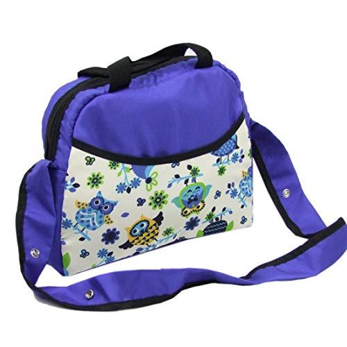 BAMBINIWELT Wickeltasche, Tasche, Babytasche für Buggy oder Kinderwagen KLEIN (Eule $10 blau)