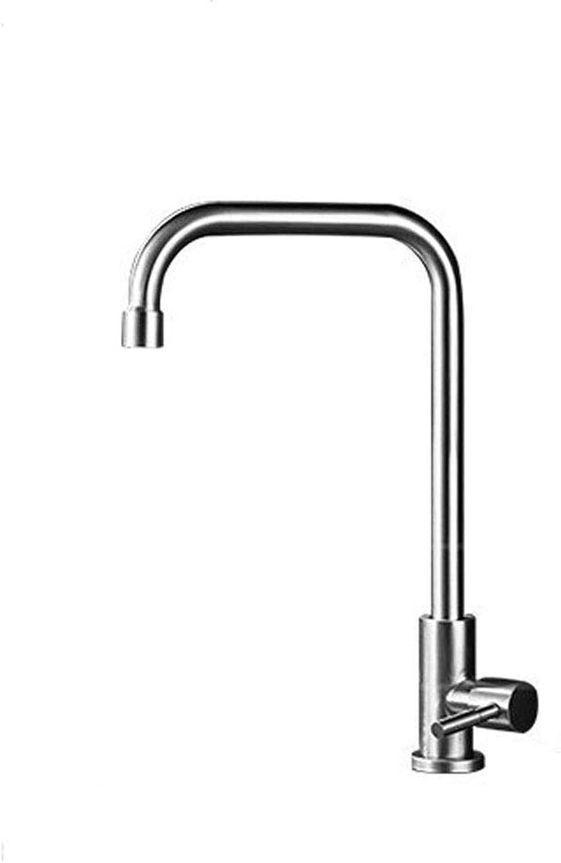 TRECT 304 Edelstahl Single Cool Küchenarmatur Grünikale Groe Biegung Rotary Einhand Wasserhahn Drahtziehprozess