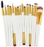 CWD Súper Suave Cepillo De Maquillaje 15pcs Makeup Cepillo Conjunto de Ojos Fundación Eyeliner líquido Eyelashes Pincel de Maquillaje de Labios Cosmetic Set de Herramientas de Belleza (Color : BJ)