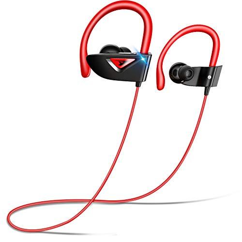 【2020年進化型 第3世代 最大18時間連続再生】 Bluetooth イヤホン スポーツ用 ワイヤレス イヤホン Hi-Fi高音質 最新bluetooth5.0+EDR搭載 CVC8.0ノイズキャンセリング ブルートゥース イヤホン 耳掛け型 マイク付