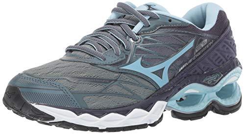 Mizuno Women's Wave Creation 20 Running Shoe, Graphite-Cool Blue, 8 B US