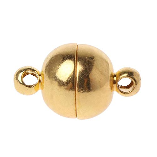 Yushu 10pcs Stainless Steel Ball Shape Magnetic Clasp Converter for Jewelry Making End Bead Cap Jewelry Findings Decor