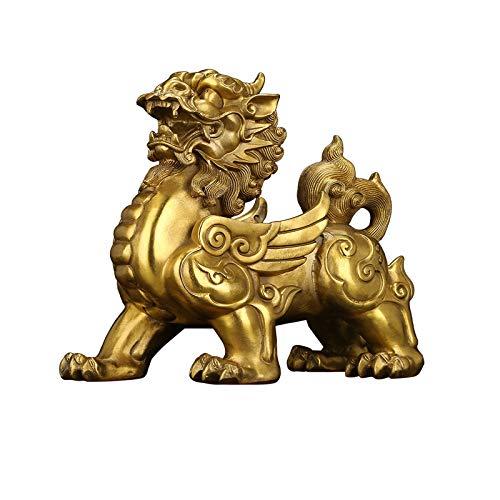 Decoraciones de escritorio Feng Shui Decoración Pixiu estatua adornos de decoración de cobre puro for sus regalos del estreno de una Pixiu de cobre puro Lucky Office Decoraciones Objeto decorativo
