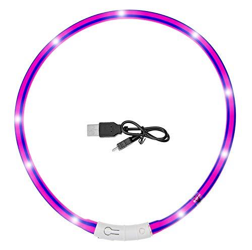 Karlie 521891 VISIO Light LED Zebra Violet/PINK GESTREIFT 70 cm, Violet-Pink