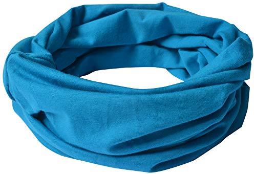 Miobo Sciarpa da bambino in cotone blu chiaro M