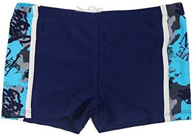 Kids Swimming Trunks Boys Nylon Bathing Suit Children Swim Shorts Baby Boys Beach Pants Swimwear Kids Swimsuit 9-16 Years (Color : Navy, Size : 158 164)