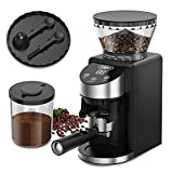 Gevi Burr Coffee Grinder, Adjustable Burr Mill with 35 Precise Grind Settings, Electric Coffee Grinder for Espresso/Drip/Percolator/French Press/ American/ Turkish Coffee Makers, 120V/200W, Black