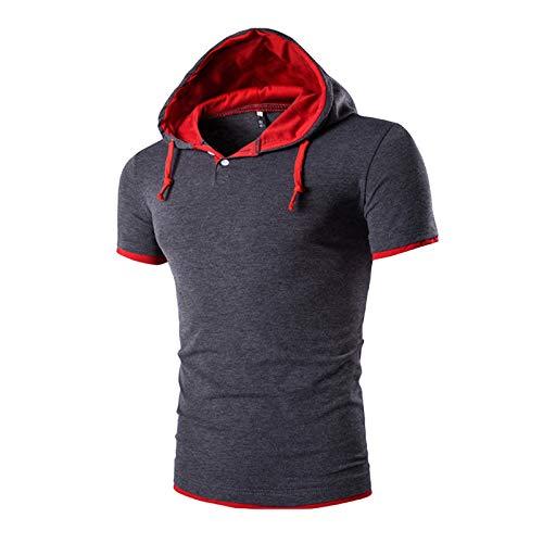Camiseta para Hombre,Camiseta de Tirantes Deportiva Fitness Sudadera con Capucha Sin Mangas para Hombre Culturismo Gym Tank Top