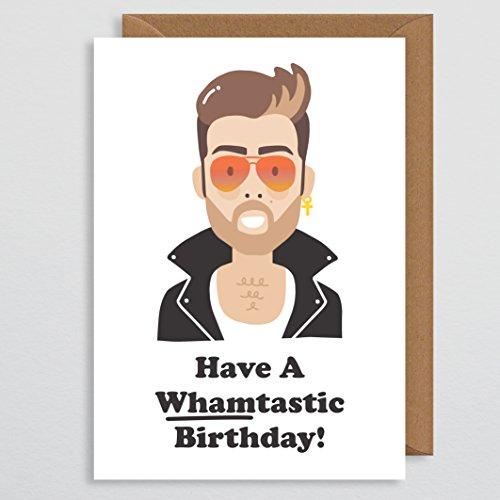 Verjaardagskaart Boyfriend - George Michael Verjaardagskaart - Whamtastische Verjaardag - 80s Cadeaus - Gay Cadeaus - voor mannen - Jongens - Kaart voor muziekliefhebbers - Gay Verjaardagskaart - Gay Pride - Verjaardagskaart - Man