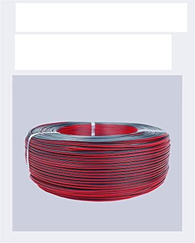 Cavo Elettrico,Cavo Per Prolunghe Automobili Automotive a 2 pin Cavi in rame in scatola Cavo nero rosso 16 18 22 24 26 Auto Fil filo elettrico 12V Filo Elettrico (Color : UL2468, Length : 20m)