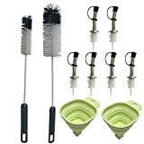 Condello casa Baby Water Bottle Cleaning Brushes Long Handle Cleaner Tool set con tappo in...