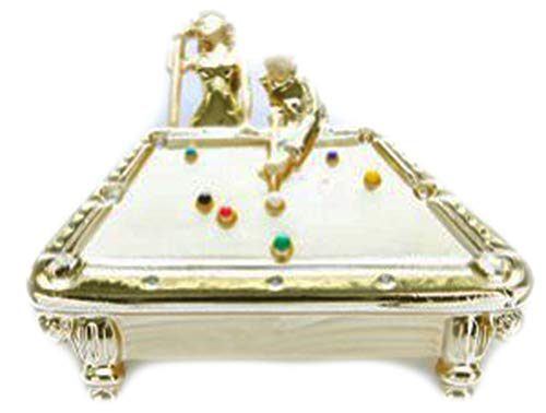 AJC Co. Gold - Plated Billiards Pin Brooch