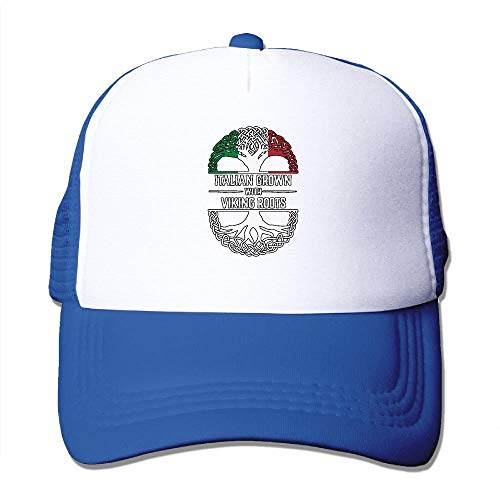 linranshangmao Two Tone Trucker Hat Italiener gewachsen mit Wikinger Wurzeln 1 justierbarer Maschenhut