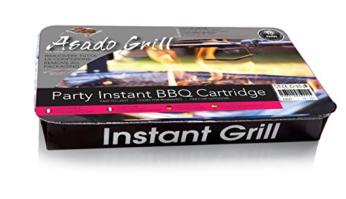 ASADO Cartuccia Party BBQ istantaneo Cartuccia Party con carbonella di bambu grill istantaneo