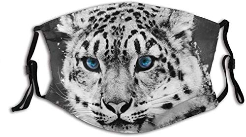 Face Mask Eyes Glacial Leopard Snow Balaclava Unisex Reusable Windproof Mouth Bandanas Outdoor Camping Motorcycle Running Neck Gaiter for Teen Men Women Made in USA