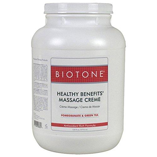 Biotone Healthy Benefit Massage Creme, Pomegranate & Green Tea, 128 Ounce