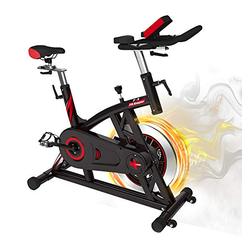 スピンバイク トレーニングマシン フィットネスバイク 本格トレーニング向き16KGホイール エアロビクスバイク 無段階負荷調節 静音 サドル&ハンドル調節可能 移動用キャスター付き エクササイズマシン 日本語取説