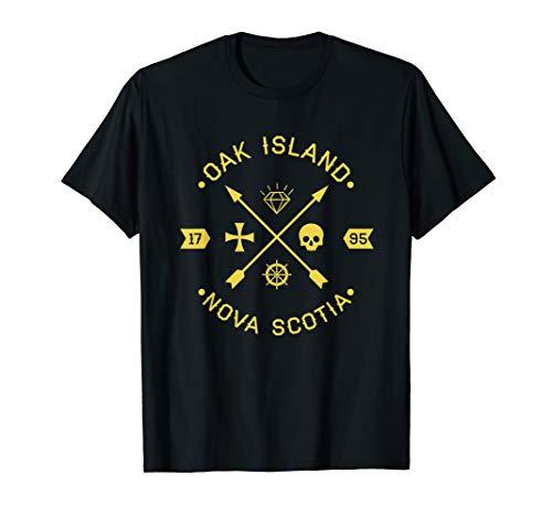 Eiche Insel Tempelritter Totenkopf Treasure Arrows T-Shirt–G