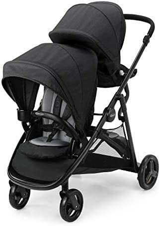 Graco Ready2Grow LX 2 0 Double Stroller Features Bench Seat and Standing Platform Options Gotham product image