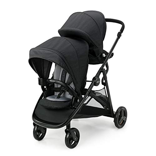 Graco Ready2Grow LX 2.0 Double Stroller Features Bench Seat and Standing Platform Options, Gotham