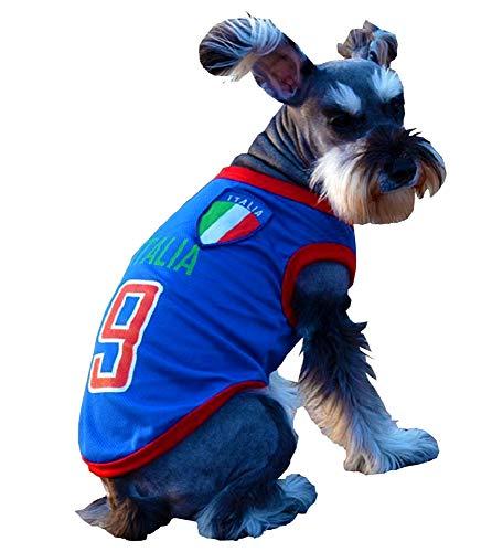 KIRALOVE Fan kostüm - fußball Team - microbist - ultrà - Italien - Hund - XXL - verkleidungen - Halloween Karneval - originelle Geschenkidee