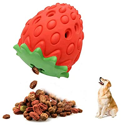Dog Chew Toys for Aggressive Chewers - Interactive Rubber Training Treat Toy Fun to Chew, Chase and Fetch for Medium Large Dogs