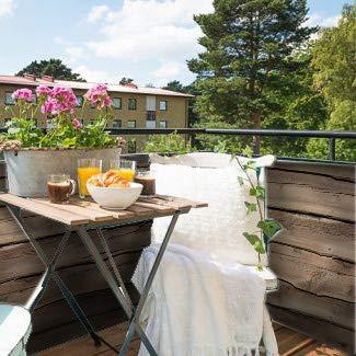 SIPP Outdoor balkonafscheiding Ruwe Houten planken (100x100cm dubbelzijdig)