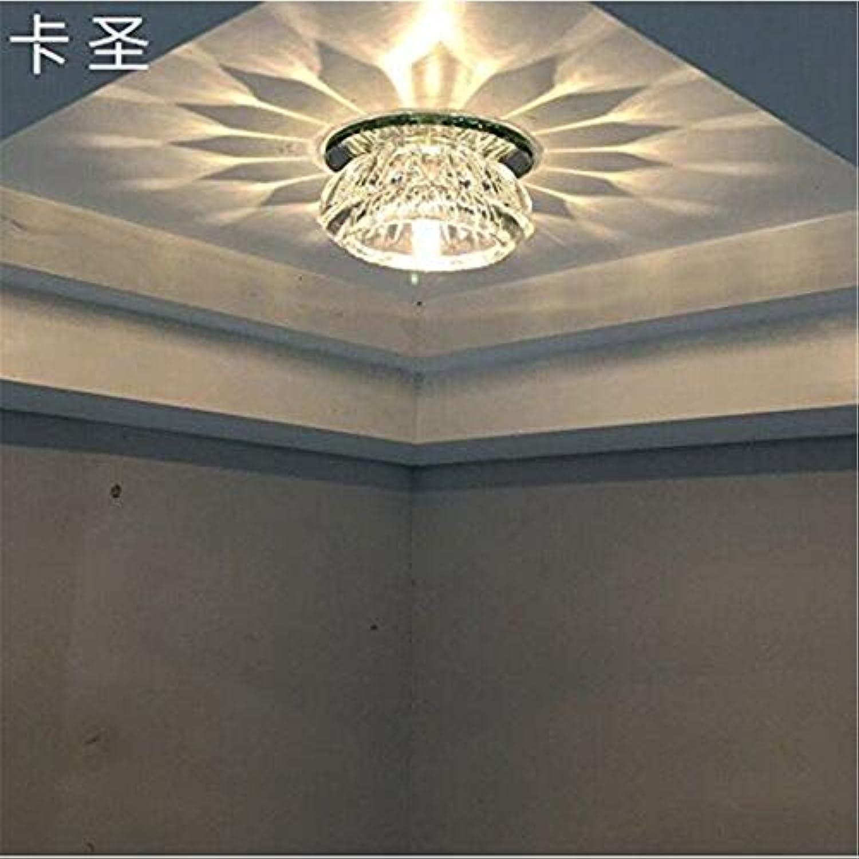 Pendelleuchte für Schlafzimmer, Flur, Gang, Porch Kronleuchter, 3W weies Licht installiert, [Energieklasse A +++]