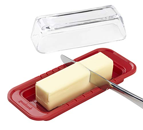 red glass butter dish - 4
