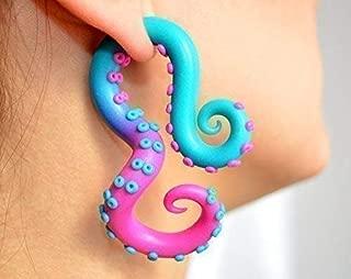 Octopus Tentacle Earrings Fake Gauge Tentacle Earrings Tentacle Earrings Plugs Tentacle Earrings Gauges Tentacle Earrings Tapers Tentacle Earrings Stretchers Tentacle Earrings Piercings