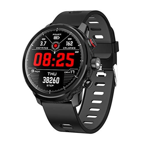 Baluue Reloj Inteligente - Fitness Tracker L5 Smart Watch Monitor de Ritmo cardíaco IP68 Pantalla táctil a Color Smartwatch para natación a Prueba de Agua (Negro)