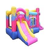 AIYIFU Castillo Hinchable Centro Juegos Hinchable con Toboganes, Rocódromo, Piscina y Túnel Castillo Hinchable Infantil para Parque Patio Jardín,